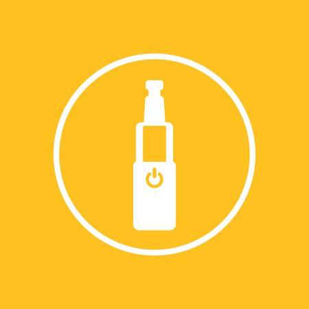 electric cigarette icon in circle, e-cigarette sign, vector illustration