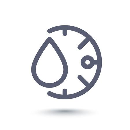 humidity line icon