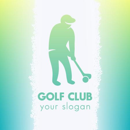 golf player: golf icon, logo element, golf player, vector illustration Illustration