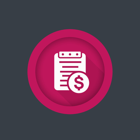 paycheck: Payroll, paying bill icon