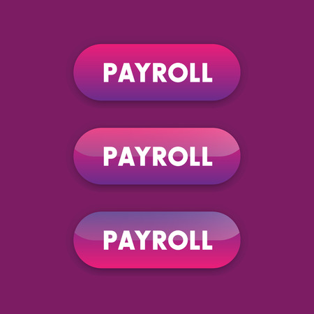 web buttons: Payroll buttons for web pages