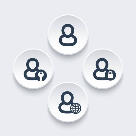 log in: login icons, account, log in, sign in
