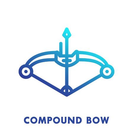 compound: compound bow line icon, logo element
