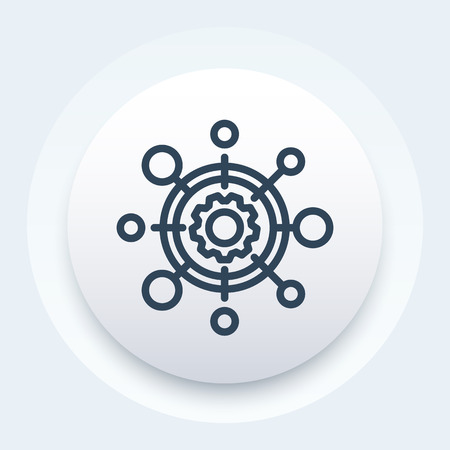 production icon, modern linear pictogram  イラスト・ベクター素材