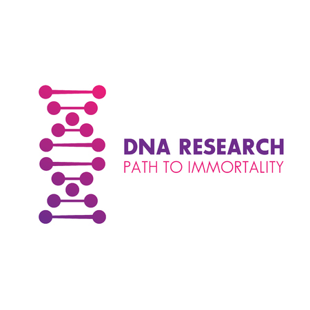 genetic modification: dna chain logo element