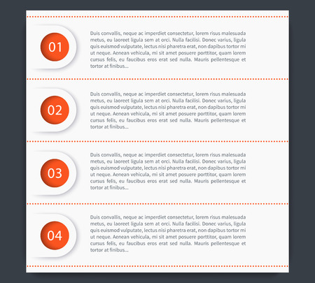 3 4: 1,2,3,4 steps, timeline, infographics elements, banners, labels