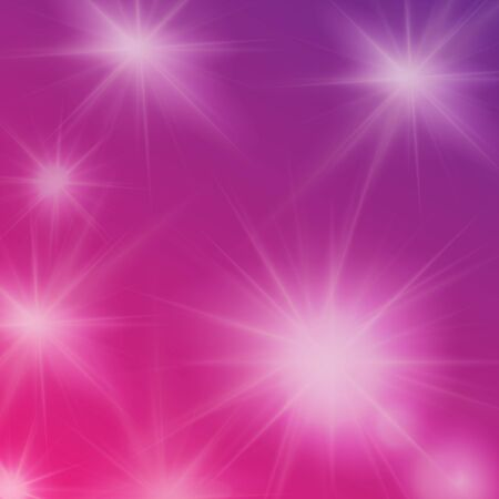sun flares: Abstract violet background with sun flares, editable elements under clipping mask