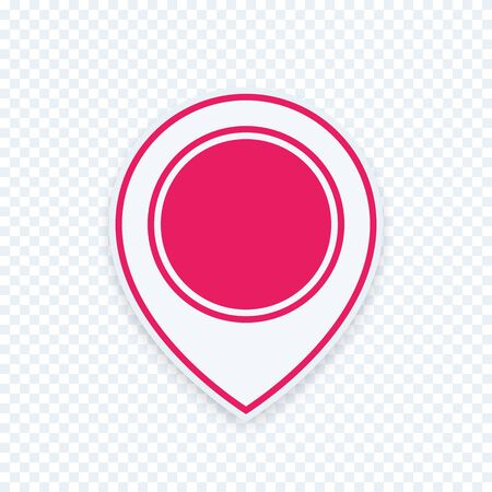 navigation mark: Map pointer icon, location, navigation mark isolated sign