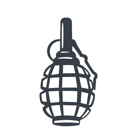 grenade, soviet world war 2 explosive, vector illustration