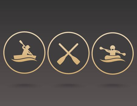 oars: Rowing, kayaking, rafting, canoe, boat, paddle, oars icons