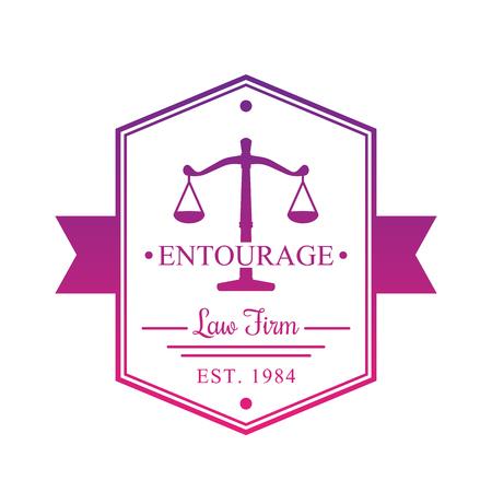 firm: Law Firm vintage logo, badge on white Illustration