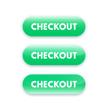 checkout: checkout buttons for website Illustration