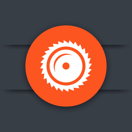 saw blade: Sawmill icon, circular saw blade, sawing, vector illustration Illustration