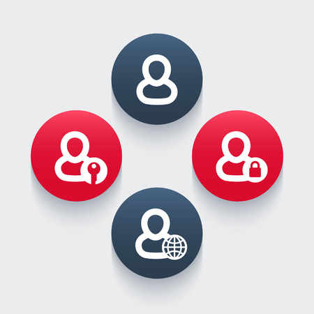 login icons, account, sign in, vector illustration Illustration