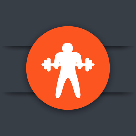 bicep curls: Bicep curl icon, arm, workout, exercise, training