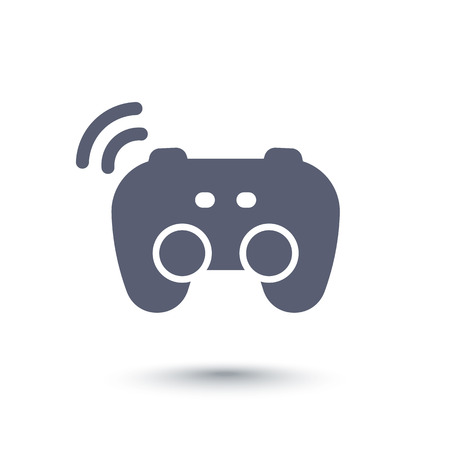 gamepad icon, wireless game controller, video gaming, pictogram isolated over white Illustration