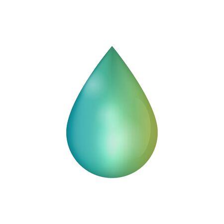 green fuel: green drop on white, biofuel, green fuel