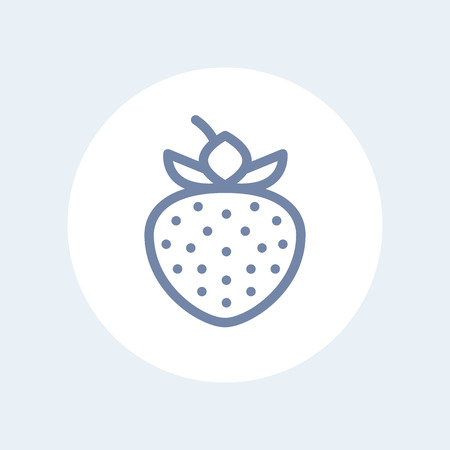 horticultural: strawberry line icon