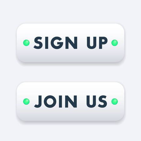 join us: sign up, join us, buttons design
