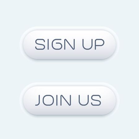 join us: sign up, join us buttons