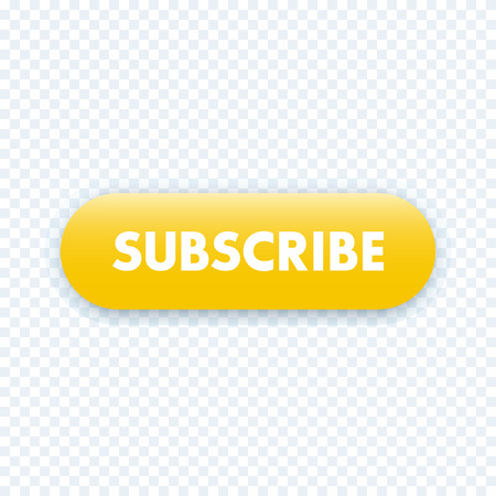 subscribe button for web page, yellow, vector illustration
