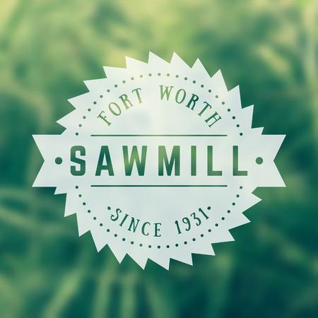 steel mill: Sawmill vintage logo, emblem, badge