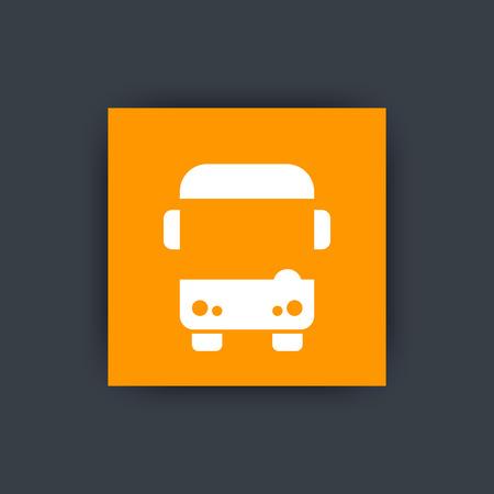 schoolbus: Bus icon, autobus sign