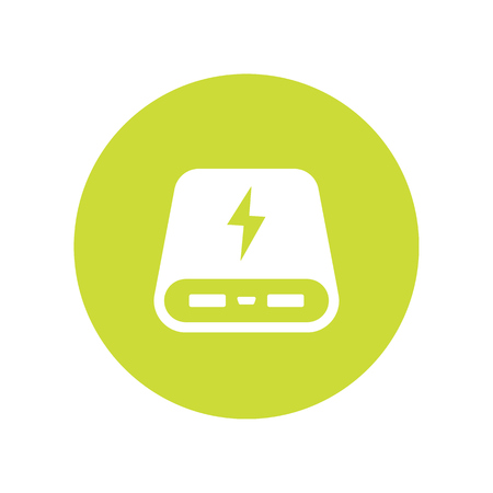 power bank icon, portable charger