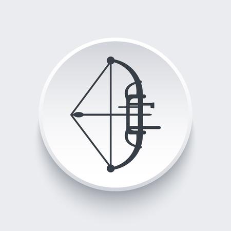 compound: compound bow, archery icon, vector illustration
