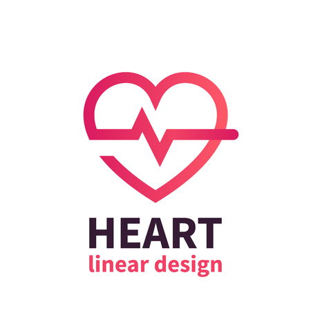 Heart logo design, cardiology, health care, cardiologist