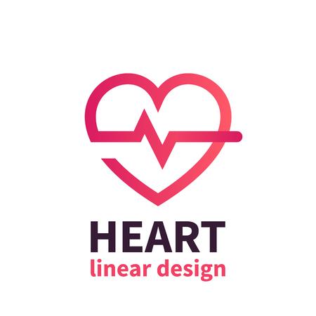Heart logo design, cardiology, health care, cardiologist