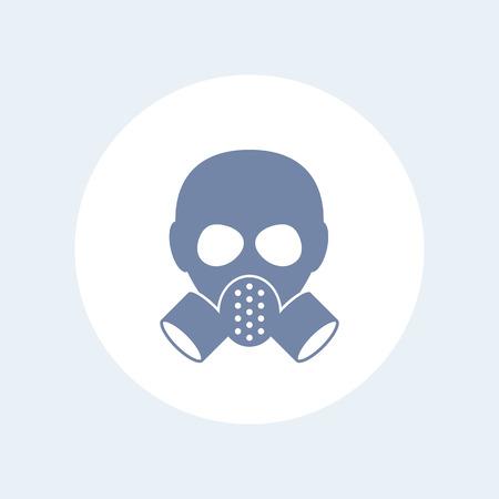 toxicant: gas mask icon isolated on white Illustration