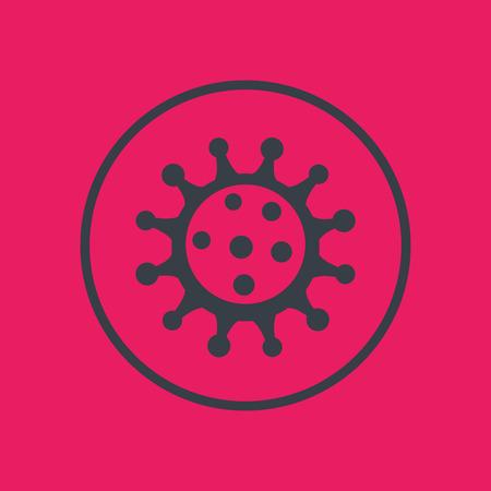 Virus icon, pathogen, microbiology, virology, virion, vector illustration Illustration