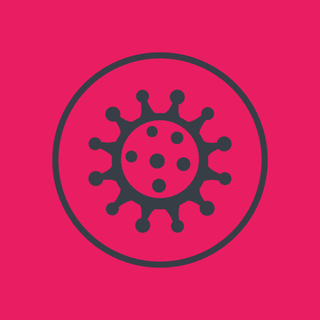virion: Virus icon, pathogen, microbiology, virology, virion, vector illustration Illustration