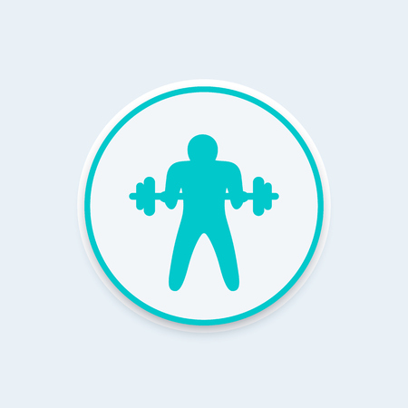 bicep curls: Bicep curl icon, arm, workout, vector illustration Illustration