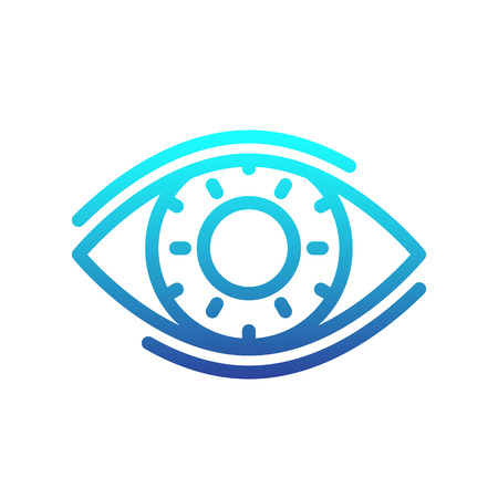 eye line icon, ophthalmology, optics logo element, vector illustration