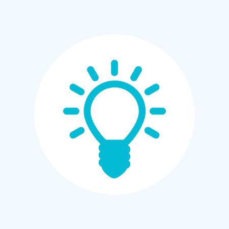 shining light: Shining light bulb icon isolated on white