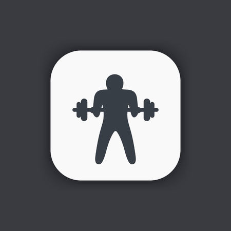 bicep curls: Bicep curl icon, arm, workout, exercise Illustration