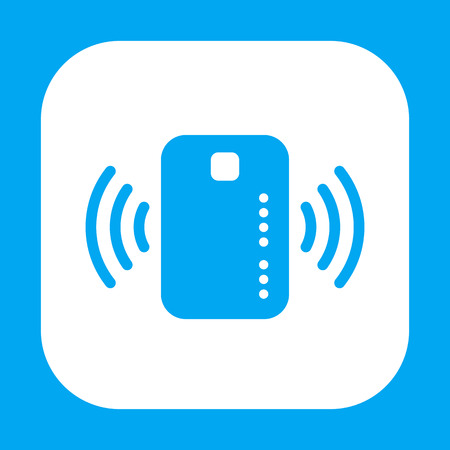 wirelessly: Contactless credit card icon Illustration