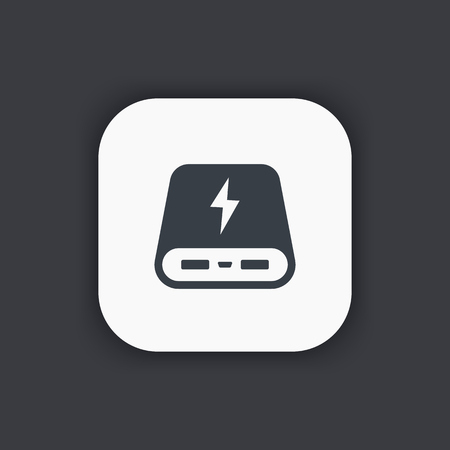 portative: power bank icon, portable charging device, vector illustration