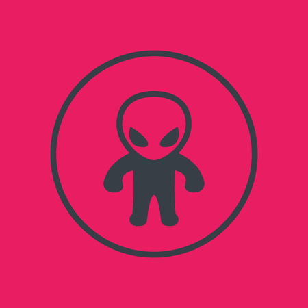 extraterrestrial icon in circle Illustration
