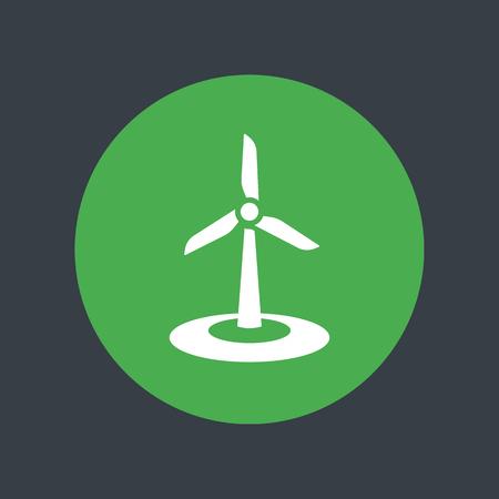 windfarm: wind energetics icon, wind park sign, vector illustration Illustration