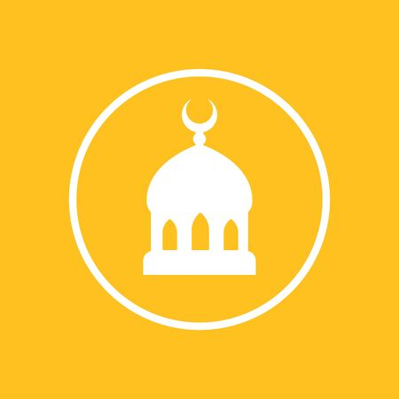 mosque icon in circle