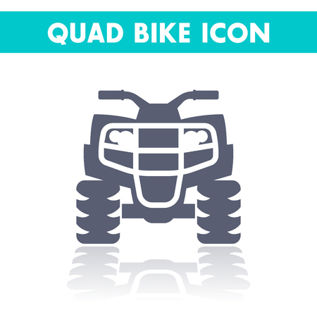 quad: quad bike icon, all terrain vehicle, atv, quadricycle vector illustration