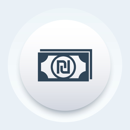 shekel icon, israeli money, vector illustration