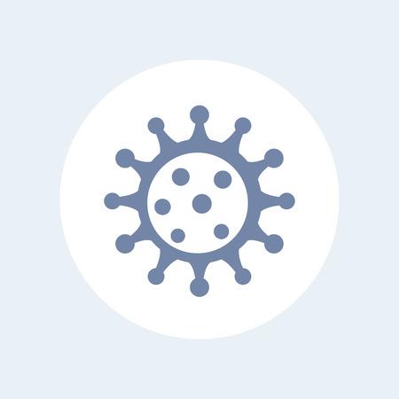virion: Virus icon isolated on white
