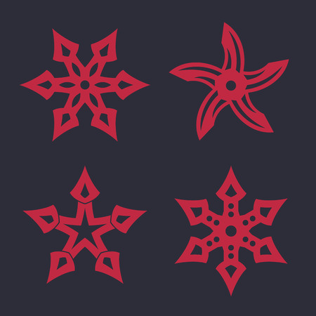 ninja stars, shurikens, vector illustration Illustration
