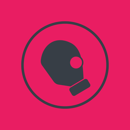 gas mask icon, side view, toxic sign Illustration