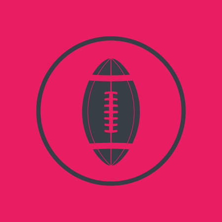gridiron: american football, gridiron icon in circle, sign with oval-shaped football