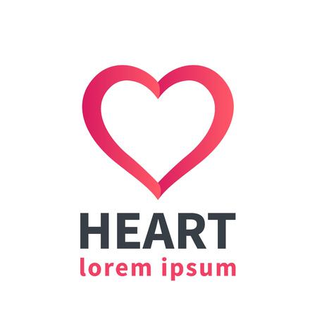 heart outline: Heart outline, logo element